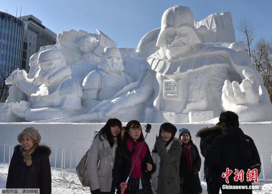 资料图:札幌冰雪节。