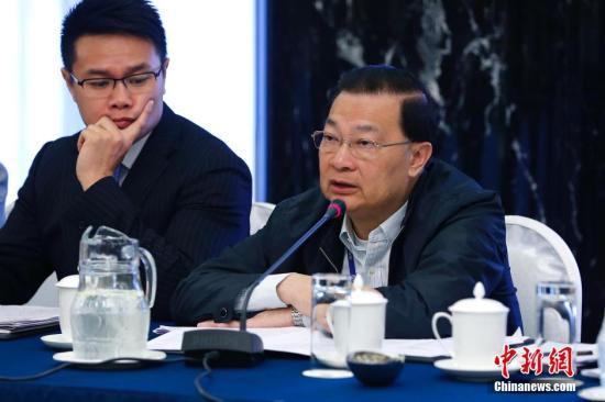 资料图片:香港民建联前主席谭耀宗。