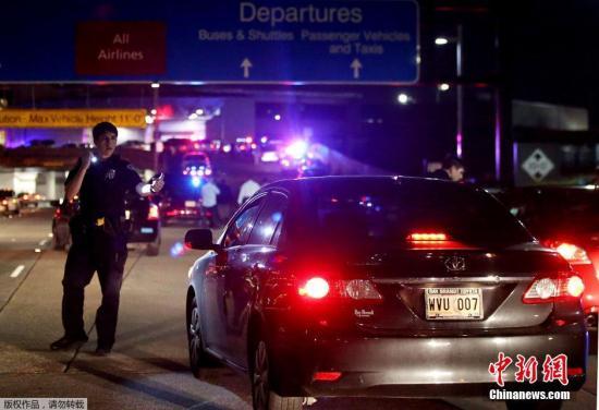 美国男子带燃烧瓶在机场发动袭击 疑患心理疾病