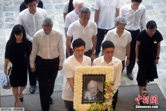 当地时间2015年3月29日,新加坡建国总理李光耀的国葬仪式举行。