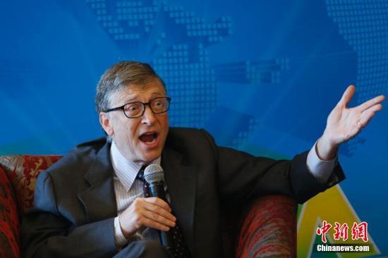 """3月29日,博鳌亚洲论坛第七场早餐会""""对话:技术、创新与可持续发展""""在博鳌举行,百度公司创始人、董事长兼首席执行官李彦宏作为主持人,邀请比尔及梅琳达·盖茨基金会联席主席比尔·盖茨与特斯拉汽车首席执行官马斯克,就共同关心的话题进行对话。 <a target='_blank' href='http://212smoke.com/'>中新社</a>发 盛佳鹏 摄"""