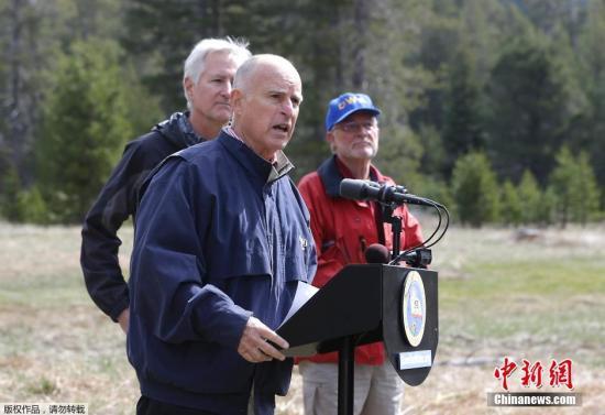 资料图:加州州长布朗(Jerry Brown)