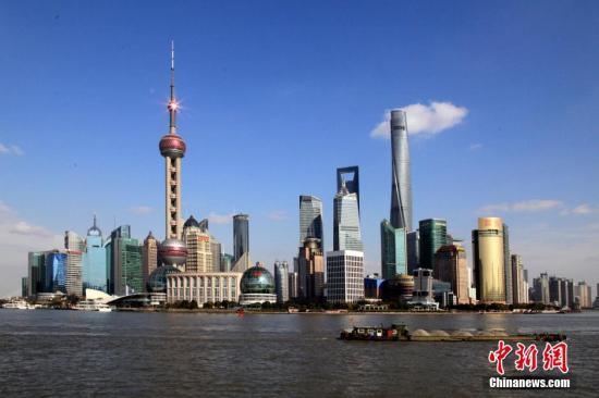 资料图:上海陆家嘴金融中心。 汤彦俊 摄