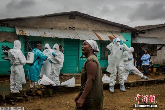 图为由澳大利亚自由摄影师Daniel Berehulak与《纽约时报》合作的非洲埃博拉危机报道获得专题摄影奖。
