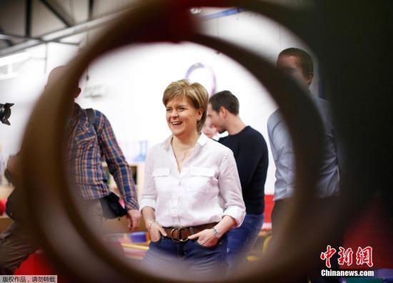 资料图:苏格兰首席大臣尼古拉・斯特金。