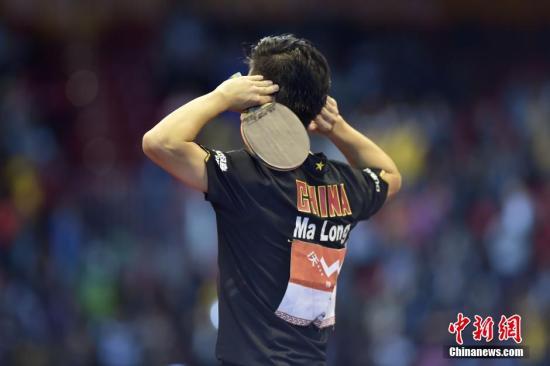 资料图:乒乓球运动员马龙。 <a target='_blank' href='http://www.chinanews.com/'>中新社</a>发 刘关关 摄