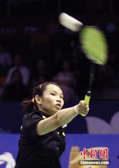 资料图:中国台北队选手戴资颖在女单比赛中。/p中新社发 韩海丹 摄
