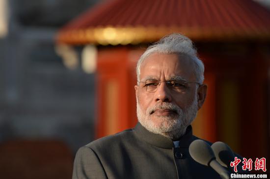 材料图:印度总理莫得埽a target='_blank' href='http://www.chinanews.com/'种孤社/a收 廖攀 摄