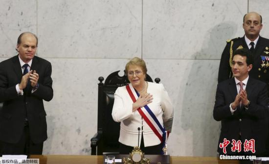 资料图:智利总统米歇尔?巴切莱特。