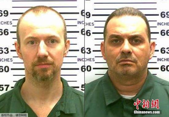 纽约悬赏10万美元通缉两名越狱犯 女狱工被疑同谋