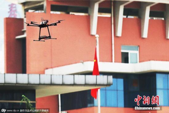 资料图:无线电监测无人机。图片来源:CFP视觉中国