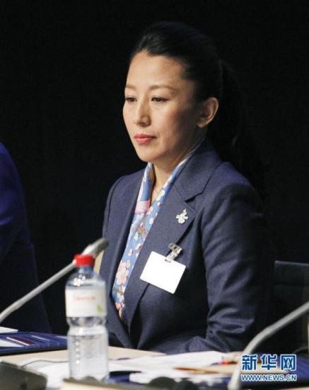 6月9日,陳述人楊揚在陳述交流會上。 當日,北京2022申冬奧代表團在瑞士洛桑與國際奧委會委員舉行陳述交流會。新華社記者 周磊 攝 圖片來源:新華網