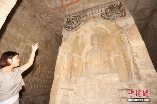 资料图:石窟寺内容丰富的造像雕刻。杨正华 摄