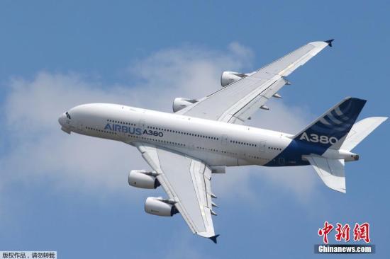 资料图:空客A380客机。