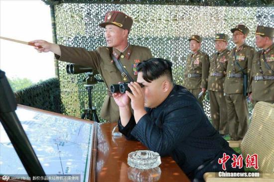 朝中社称金正恩指导新型火箭炮试射