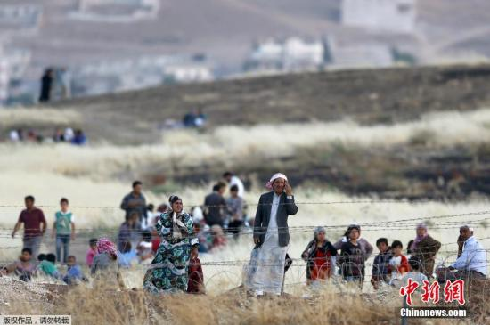 资料图:叙利亚难民。