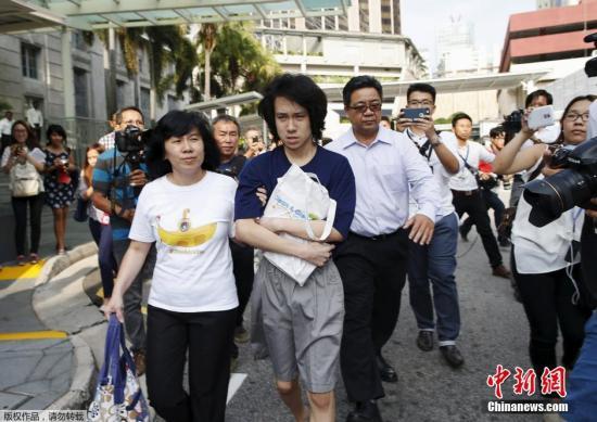 资料图:批评新加坡已故总理李光耀的16岁少年余澎杉(Amos Yee)被批准获释。
