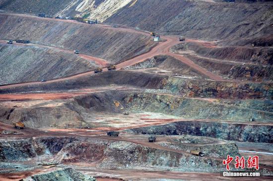 资料图:铜矿山。张斌 摄