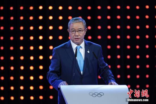 资料图:国际奥委会副主席、2022年北京冬奥会和冬残奥会组织委员会副主席于再清。(中新社发 杜洋 摄)