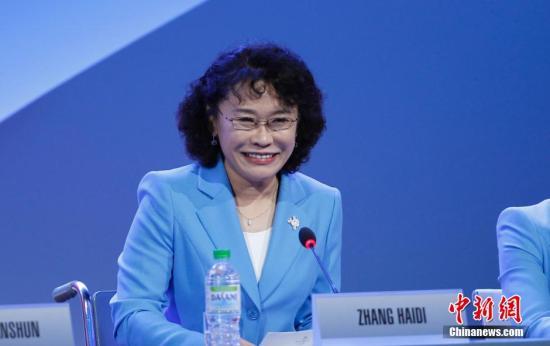 图为中国残奥委会主席张海迪。 中新社发 杜洋 摄