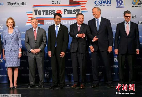 美共和党大选角逐者电视辩论在即 系首场重大较量