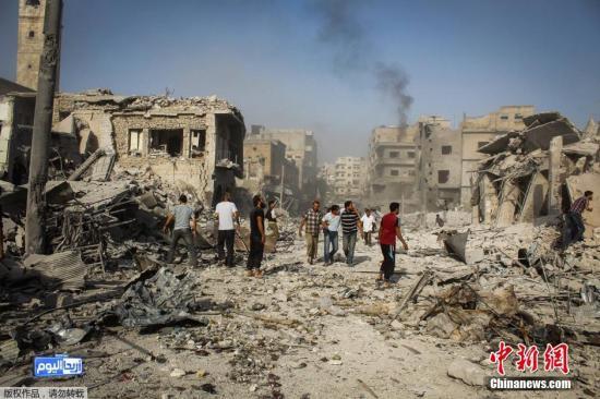 资料图:叙利亚伊德利卜。