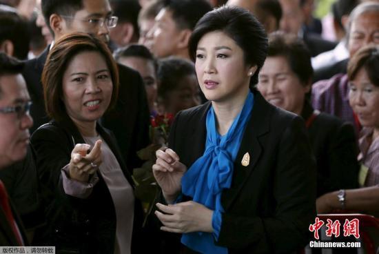 资料图:泰国前总理英拉出席听证会。