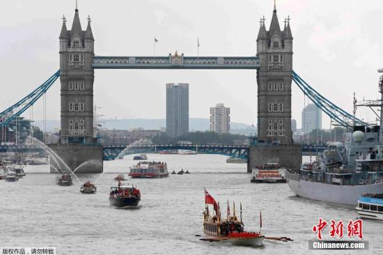 资料图:英国伦敦泰晤士河。