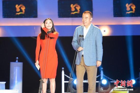 2015年第二届丝绸之路电影节,姚晨、陈凯歌担任颁奖嘉宾。吕明 摄
