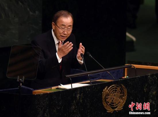图为前联合国秘书长潘基文。 中新社记者 毛建军 摄