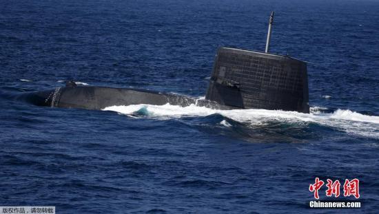 资料图:日本海上自卫队涡潮级潜艇。