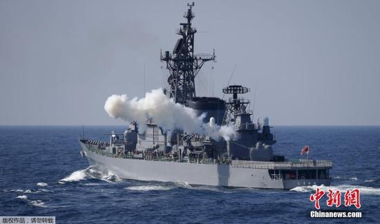 资料图:日本自卫队舰艇。