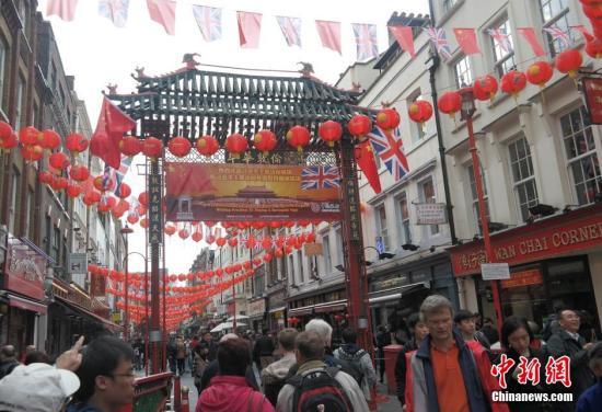 资料图片:伦敦唐人街。
