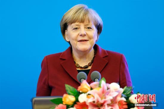资料图:德国总理默克尔。中新社记者 盛佳鹏 摄
