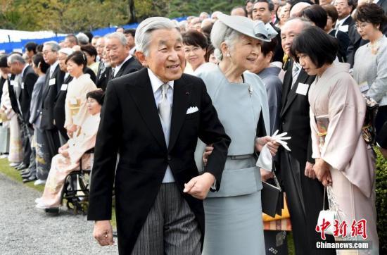 """日本天皇夫妇出席""""绿色典礼""""最后一次执行宫外公务"""
