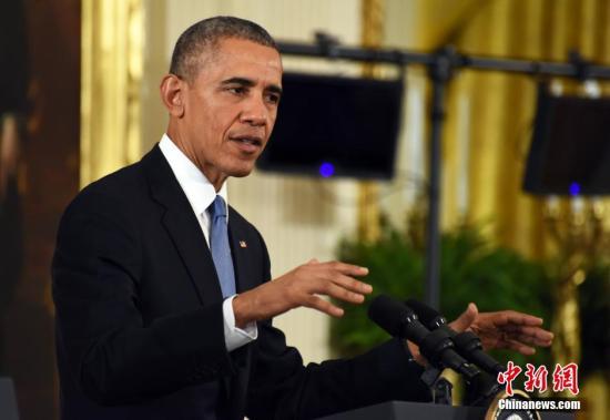 """奥巴马:美国增兵将有助于打击""""伊斯兰国"""""""