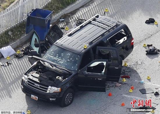 美加州枪击案枪手夫妇下葬 奥巴马将看望遇难者家属