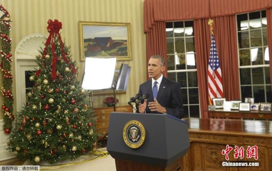 奥巴马发表全国电视演说 称恐怖袭击个体化(图)