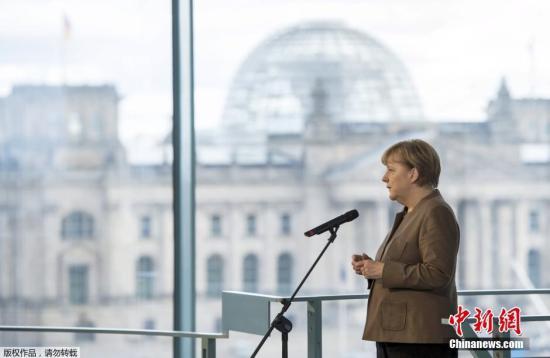 材料图:德国总理默克尔。