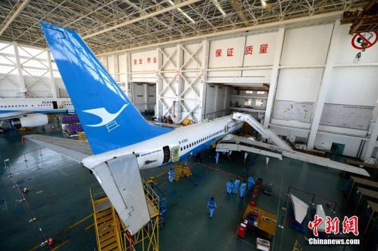 资料图:厦门航空客机。王东明 摄