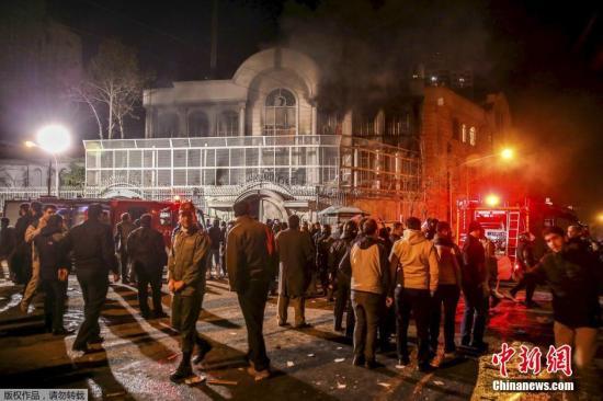 外媒:伊朗谴责沙特使馆遇袭事件 责任官员被免职