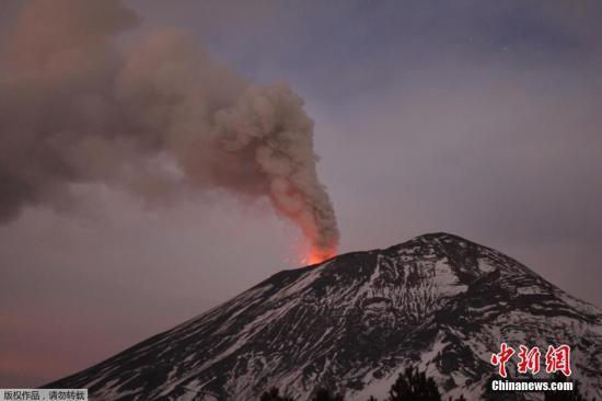 资料图:墨西哥波波卡特佩特火山。