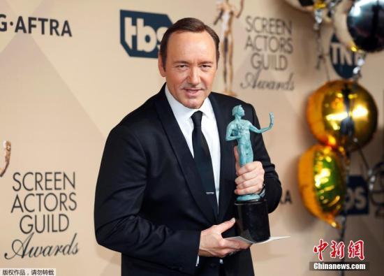 演员凯文·史派西获电视剧剧情类最佳男主角奖。