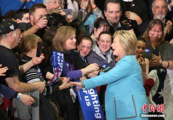 希拉里赢得美大选南卡州党内初选 备战超级星期二