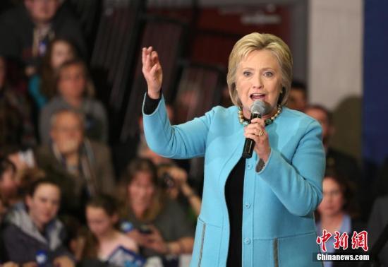 美大选希拉里面临八年前败北州初选 特朗普获支持