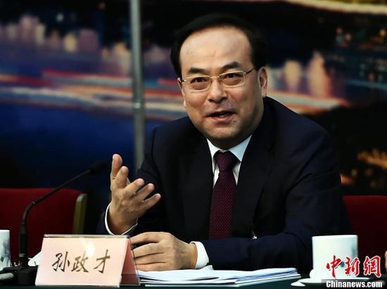 资料图:重庆市委书记孙政才。中新社记者 安源 摄