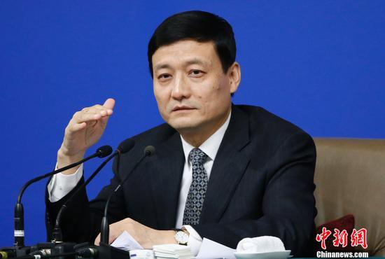 资料图:肖亚庆。 中新社记者 张浩 摄