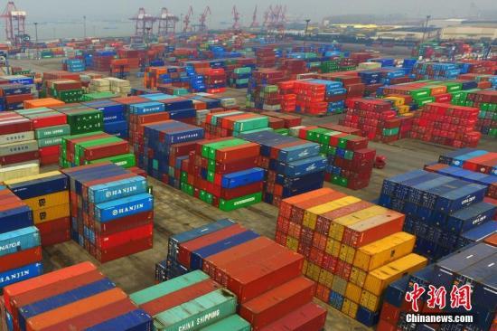 资料图:航拍南京龙潭港。<a target='_blank' href='http://www.chinanews.com/'>中新社</a>记者 泱波 摄