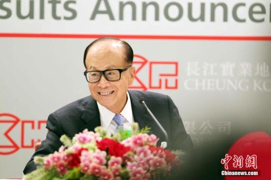 李嘉诚连续20年蝉联《福布斯》香港首富