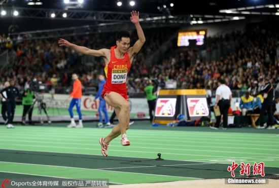 资料图:中国男子三级跳选手董斌。 图片来源:Osports全体育图片社